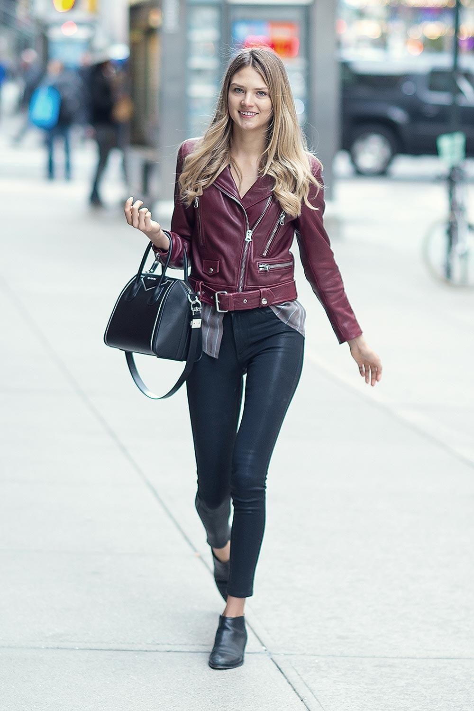 Brittni Tucker leather jacket