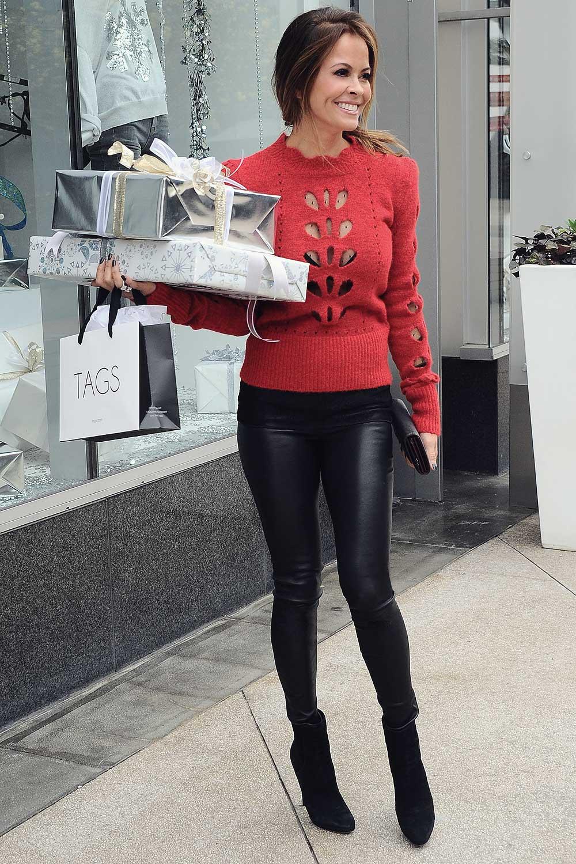 Brooke Burke shopping in LA