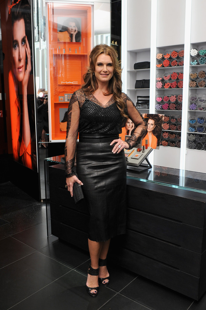 Brooke Shields attends MAC Cosmetics launch of the Brooke ...