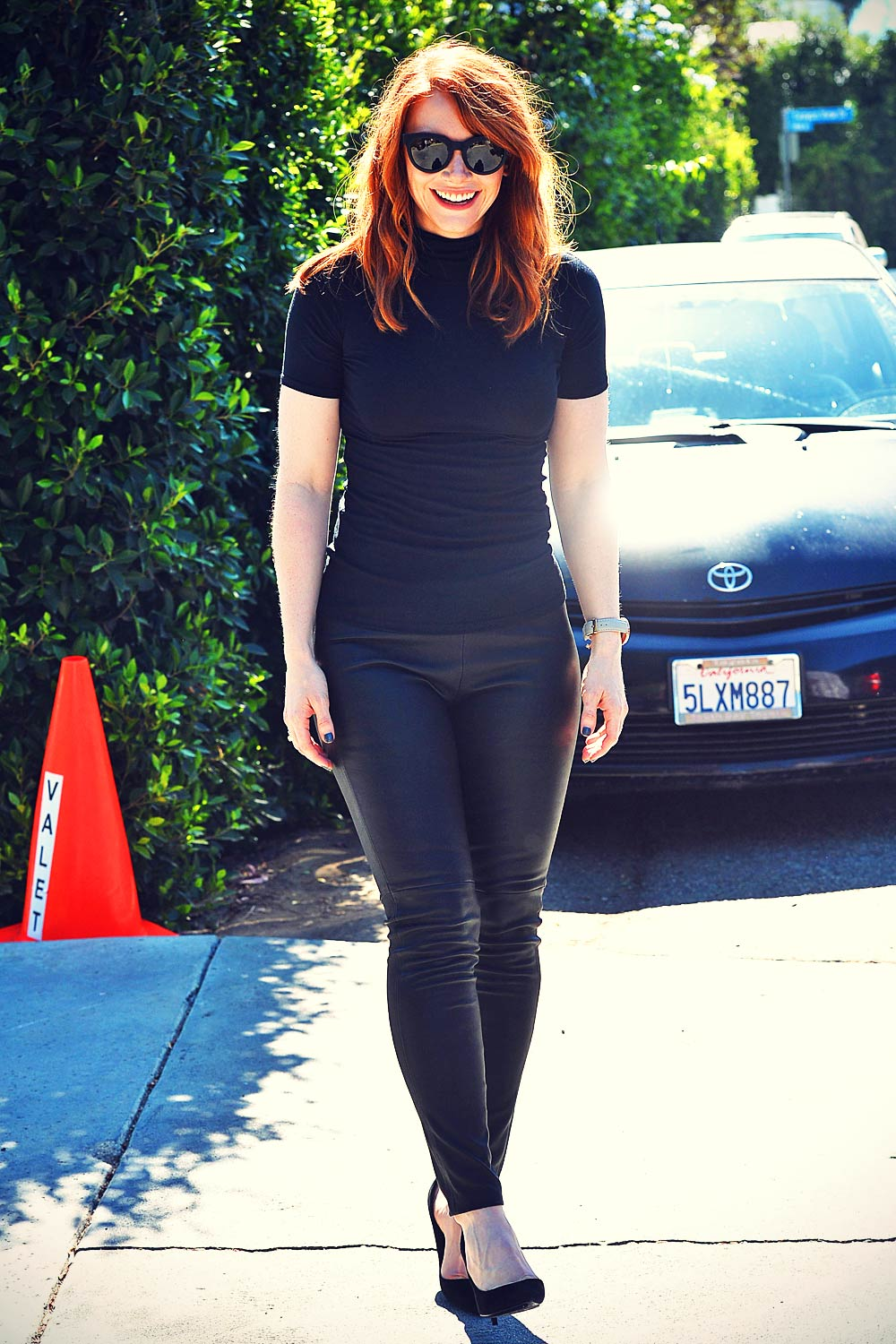 Bryce Dallas Howard Going To A Private Party Leather