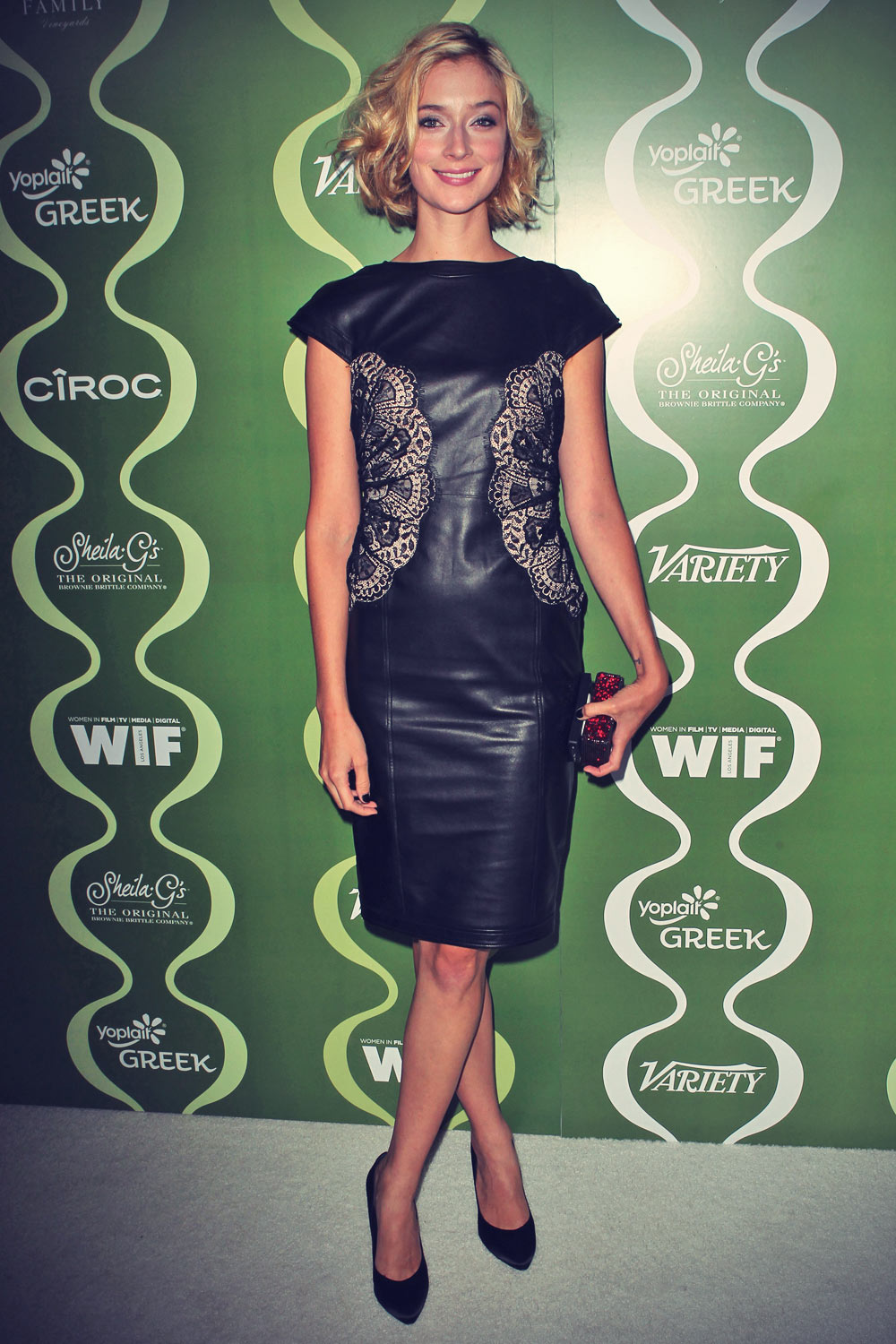 Caitlin FitzGerald attends Variety and Women In Film Pre-Emmy Party