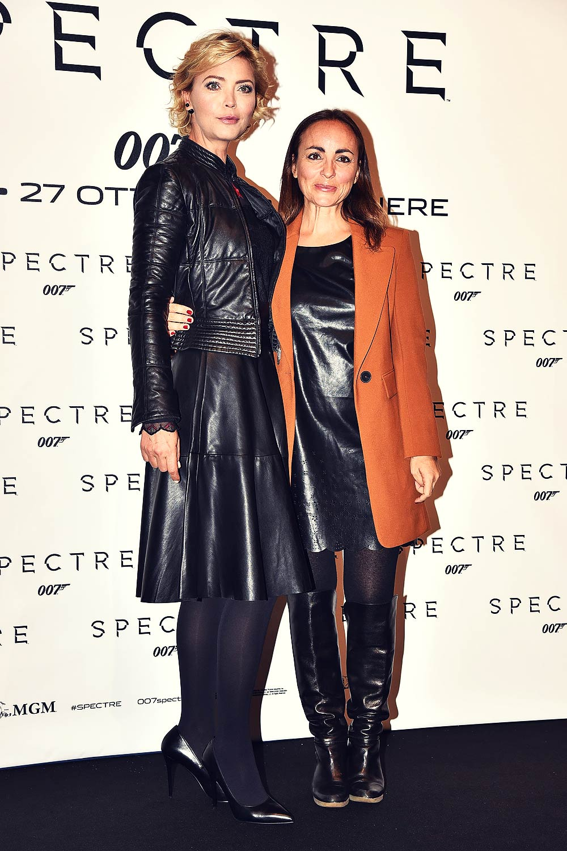 Camila Raznovich & Vittoria Belvedere attend Spectre Rome Premiere