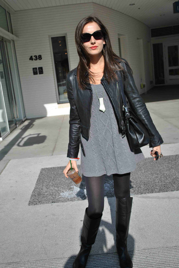 Camilla Belle Leather Celebrities