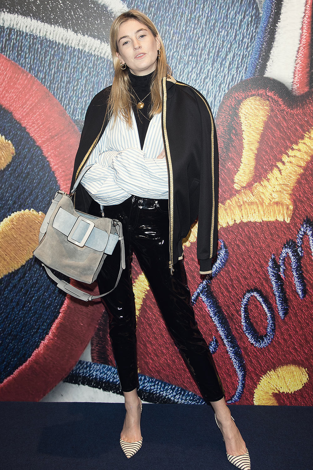 Camille Charriere attends the Capsule Collection Tommy X Gigi Spring 2017