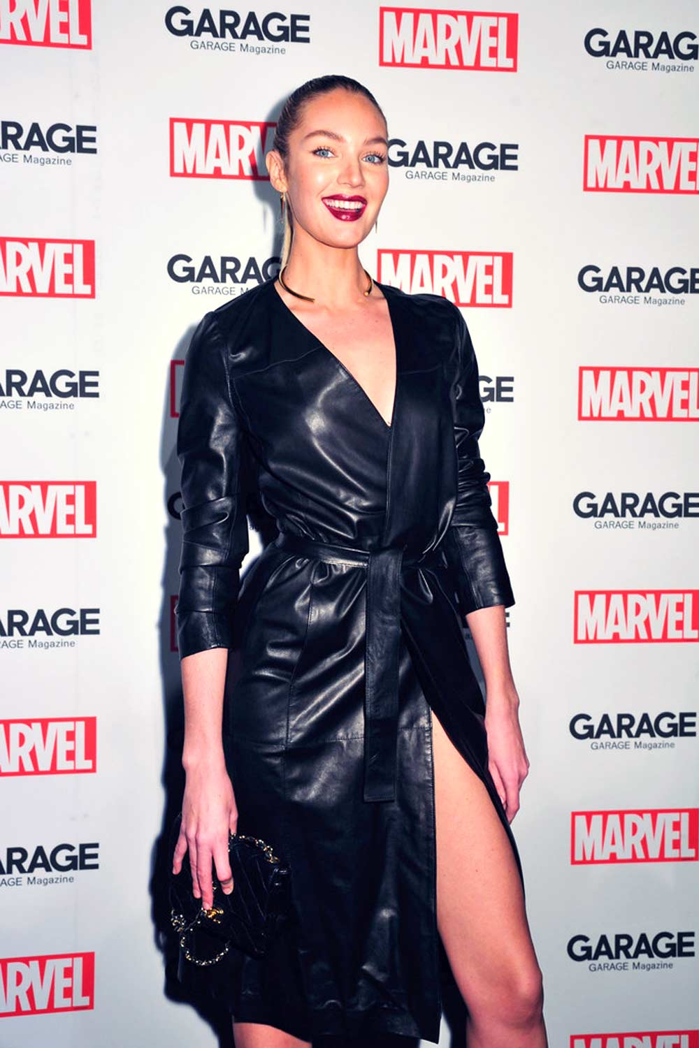 Candice Swanepoel attends Marvel And Garage Magazine New York Fashion Week