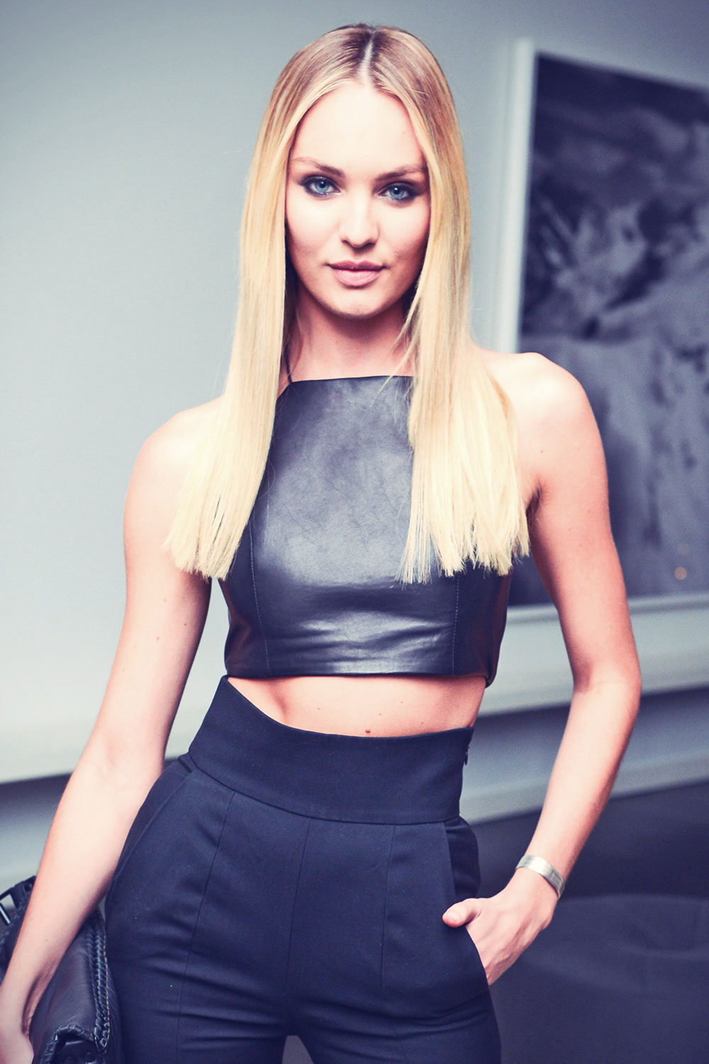 Candice Swanepoel attends a private dinner to celebrate Letters To The Men I Have Loved