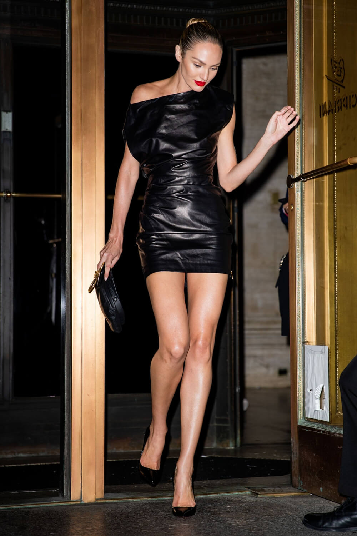 Candice Swanepoel is seen leaving the Oscar de la Renta Show