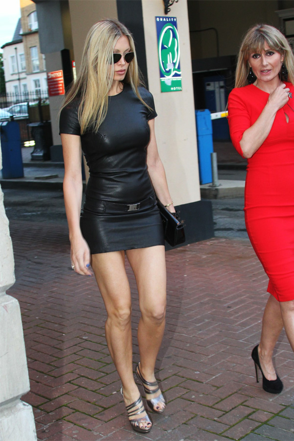 Caprice Bourret leaving a Nightclub