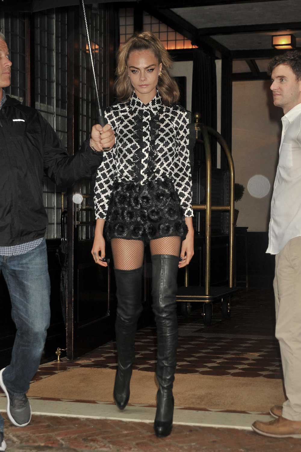 Cara Delevingne out in NYC