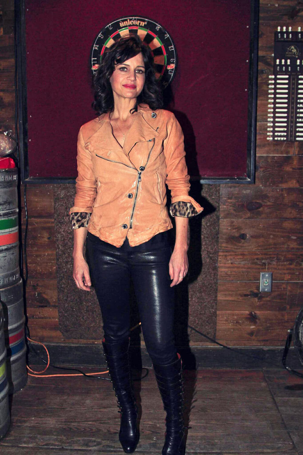 Carla Gugino Attends Showtime Roadies House Leather