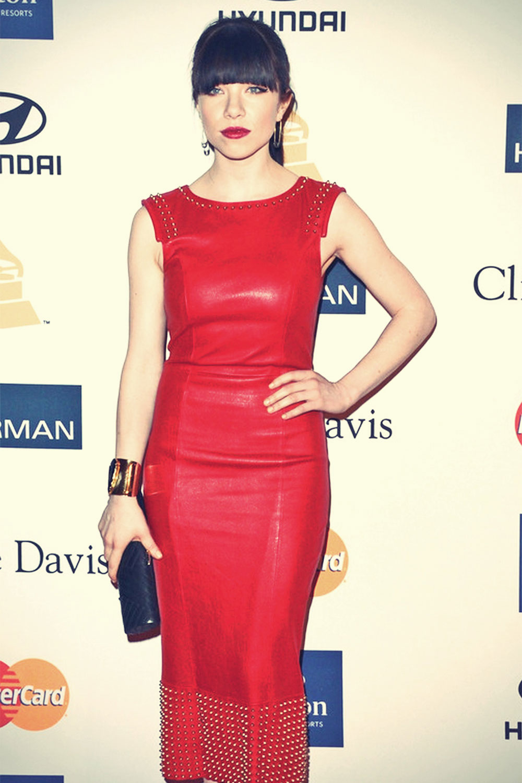 Carly Rae Jepsen attends 2013 Pre-GRAMMY Gala