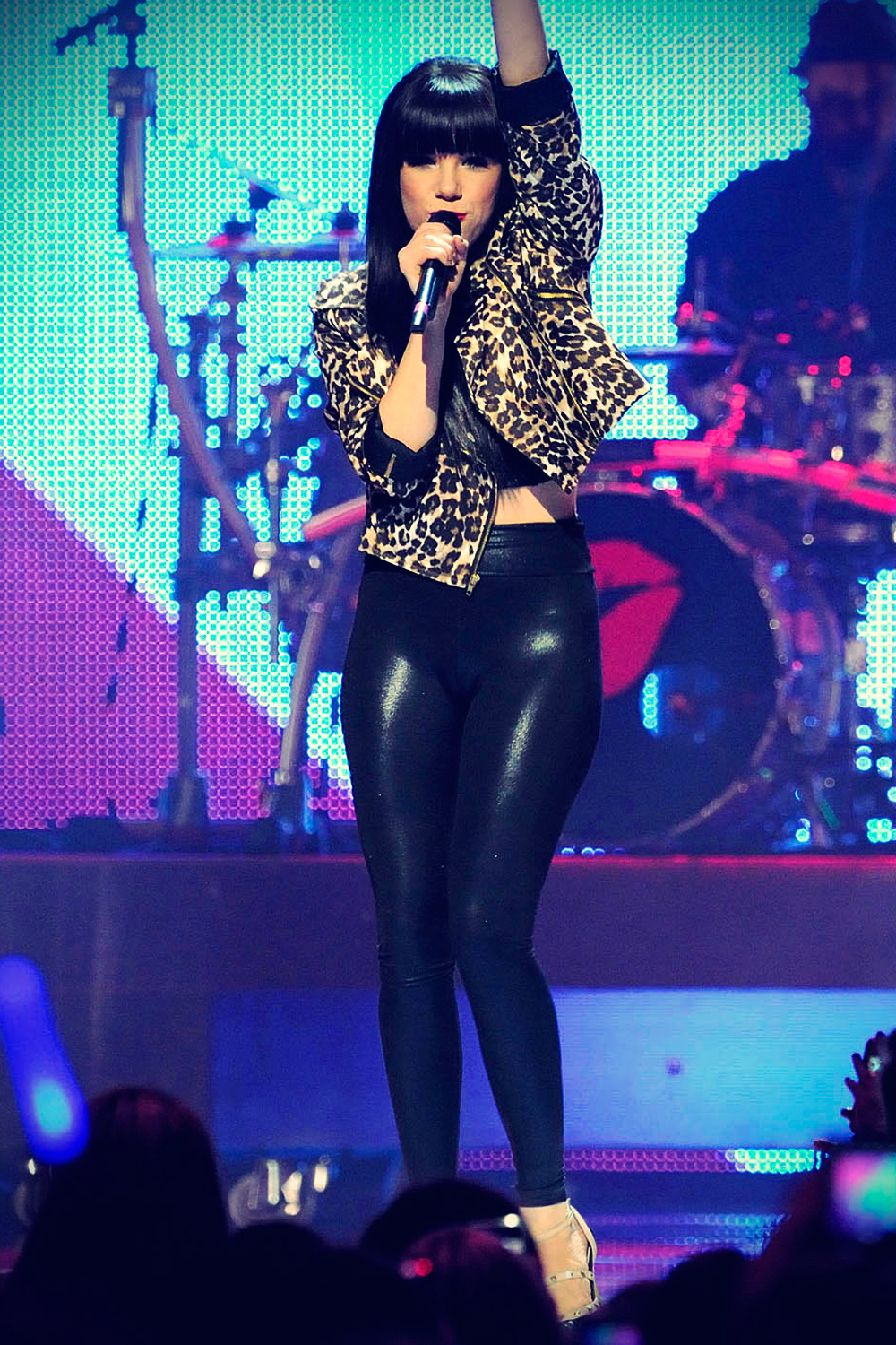 Carly Rae Jepsen performs on stage during The Big Jingle 2012