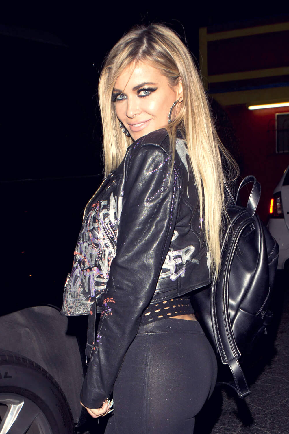 Carmen Electra At The Abbey Bar Leather Celebrities