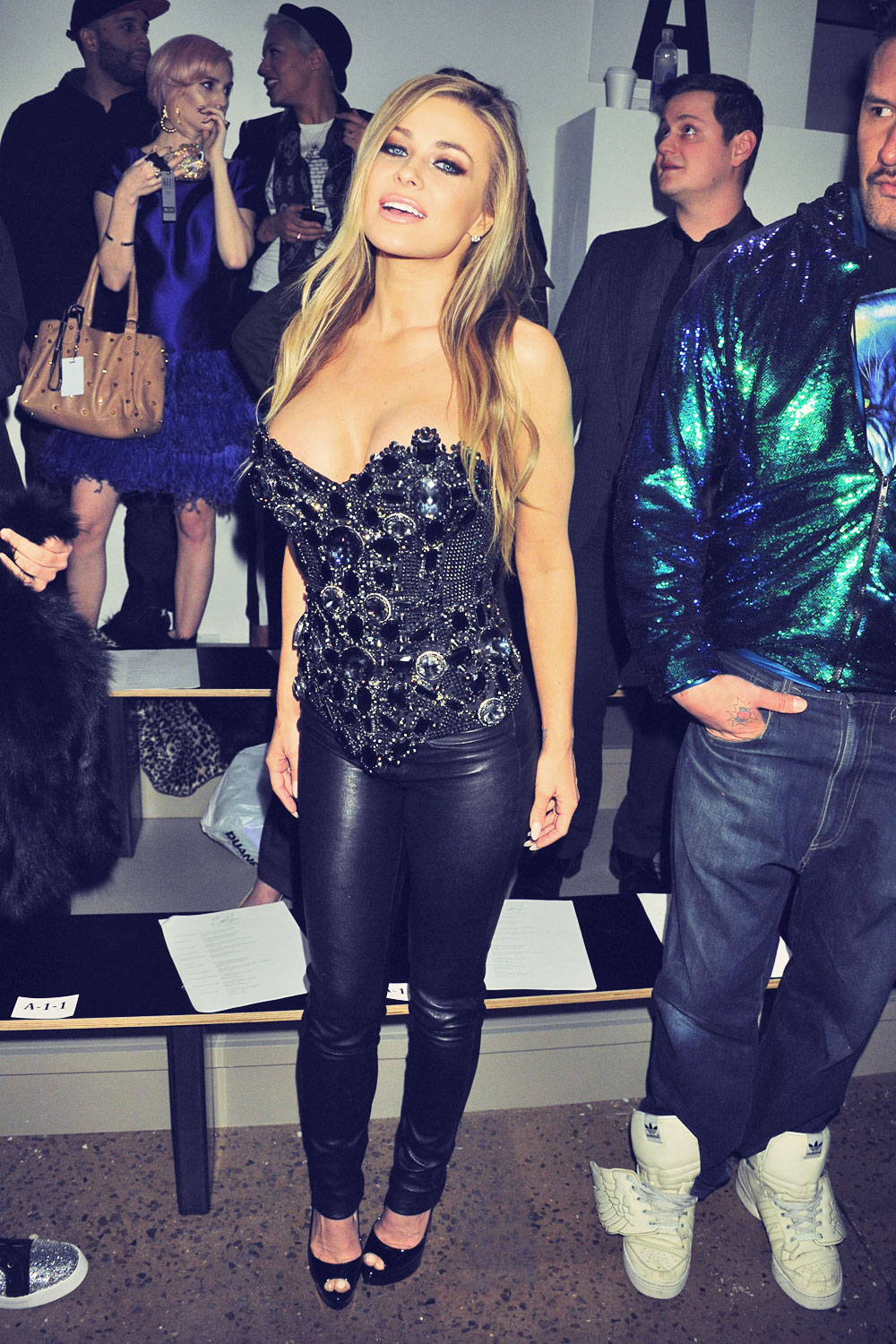 Carmen Electra attends The Blonds Fall fashion show