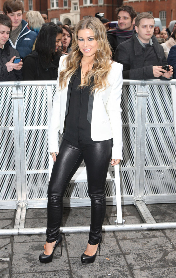 Carmen Electra arrives at The Britain's Got Talent auditions at the Hammersmith Apollo London