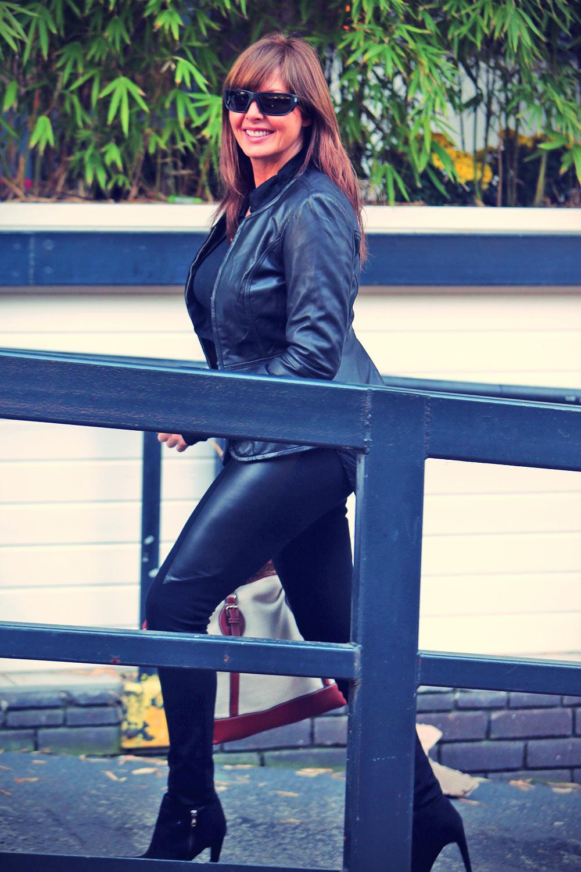 Carol Vorderman was seen at the London studios