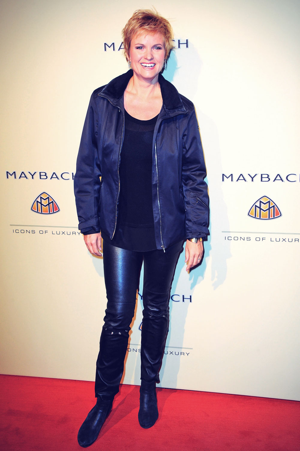 Carola Ferstl attends Grand Opening Flagship Store Maybach Icons