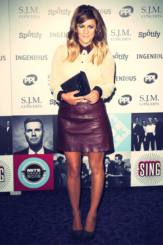 Caroline Flack at Music Industry Awards LDN