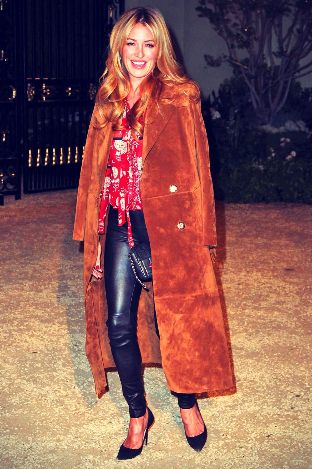 Cat Deeley attends the Burberry London in Los Angeles