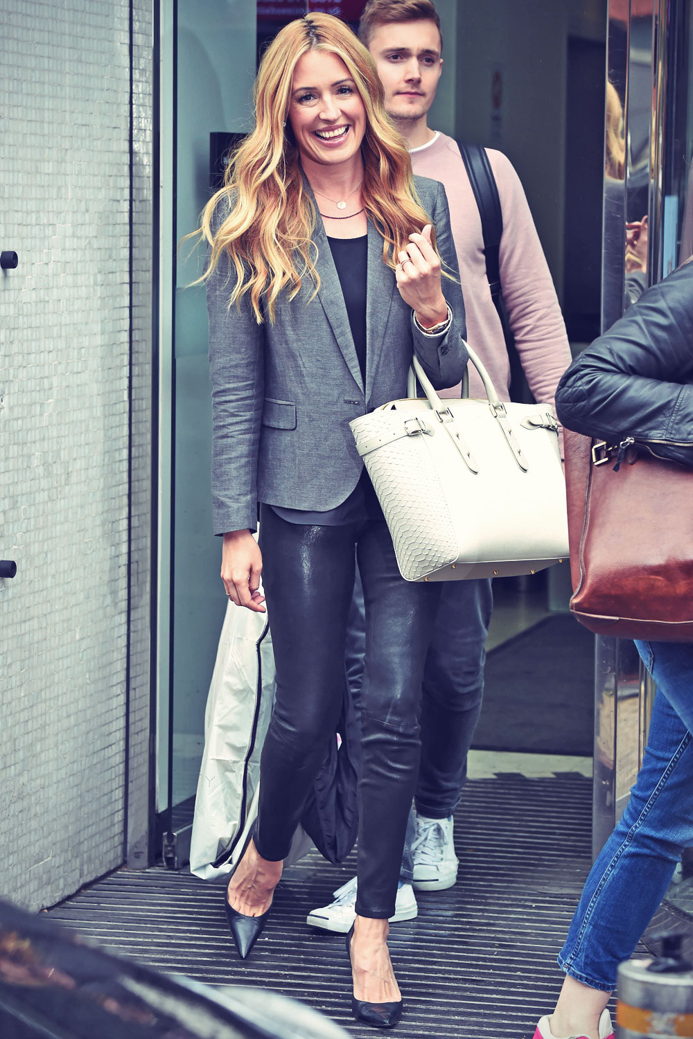 Cat Deeley leaving the ITV studios