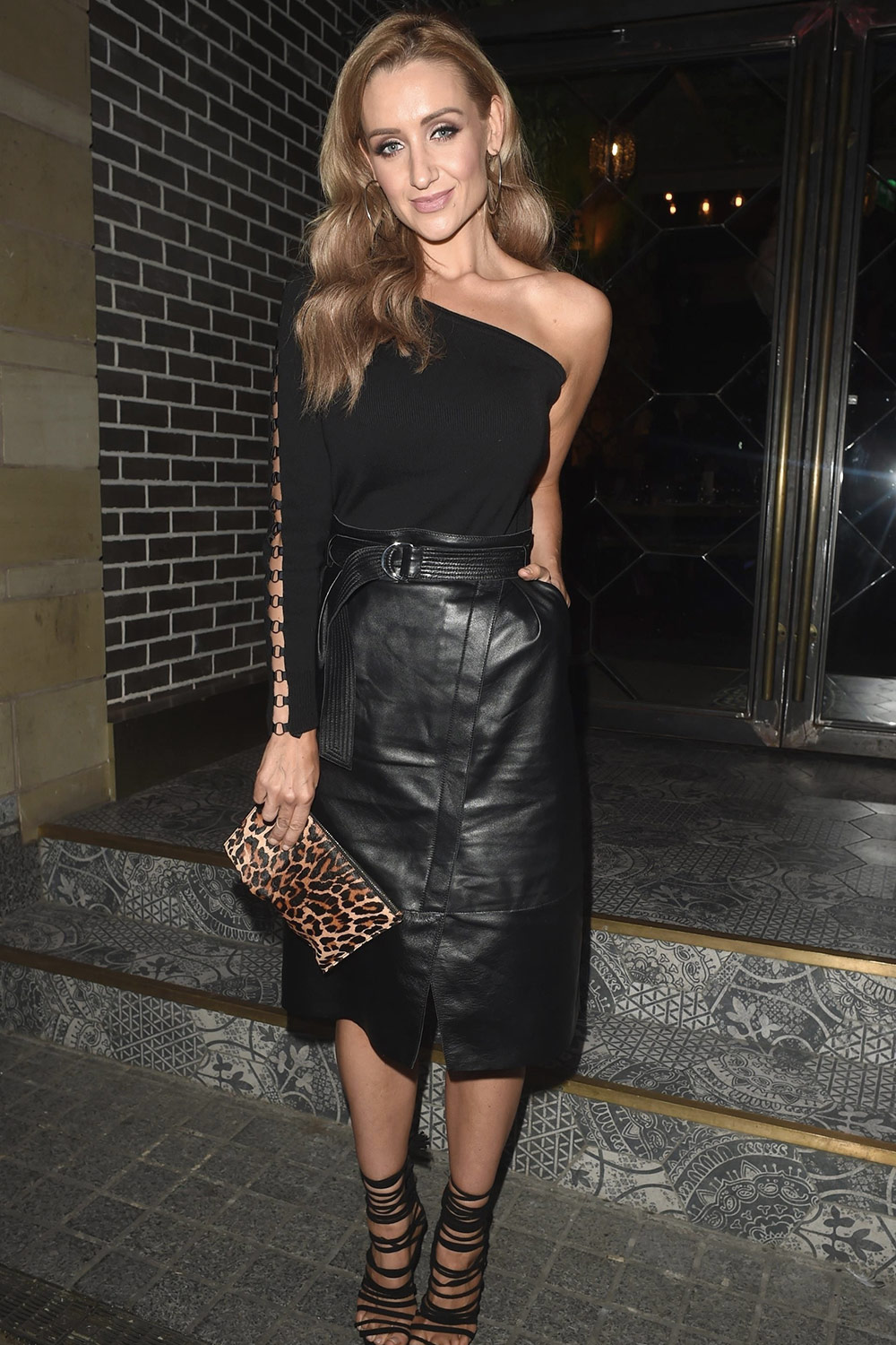 Catherine Tyldesley Attends Birthday Party Leather
