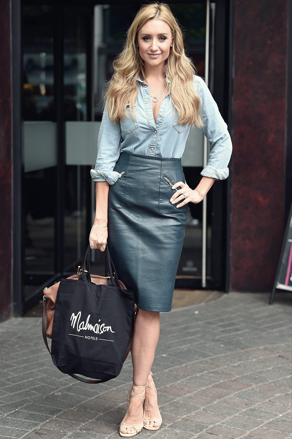 Catherine Tyldesley seen at Malmaison hotel