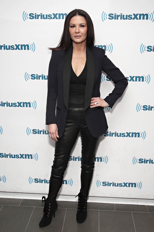 Catherine Zeta-Jones visits the SiriusXM Studios for the 'Town Hall'