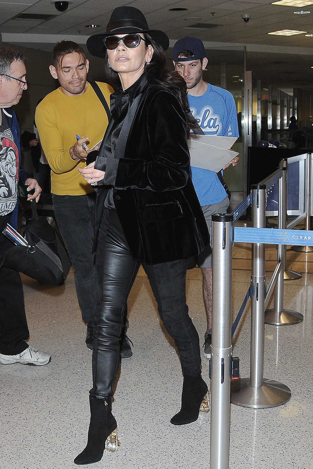 Catherine Zeta Jones At Lax Leather Celebrities