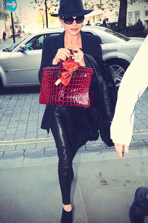 Catherine Zeta-Jones arriving at a hotel