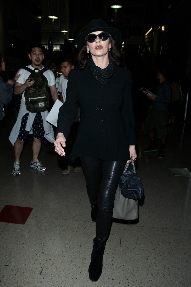 Catherine Zeta Jones seen at LAX