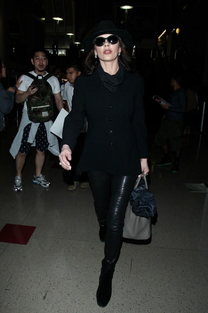 Catherine Zeta Jones seen at LAX