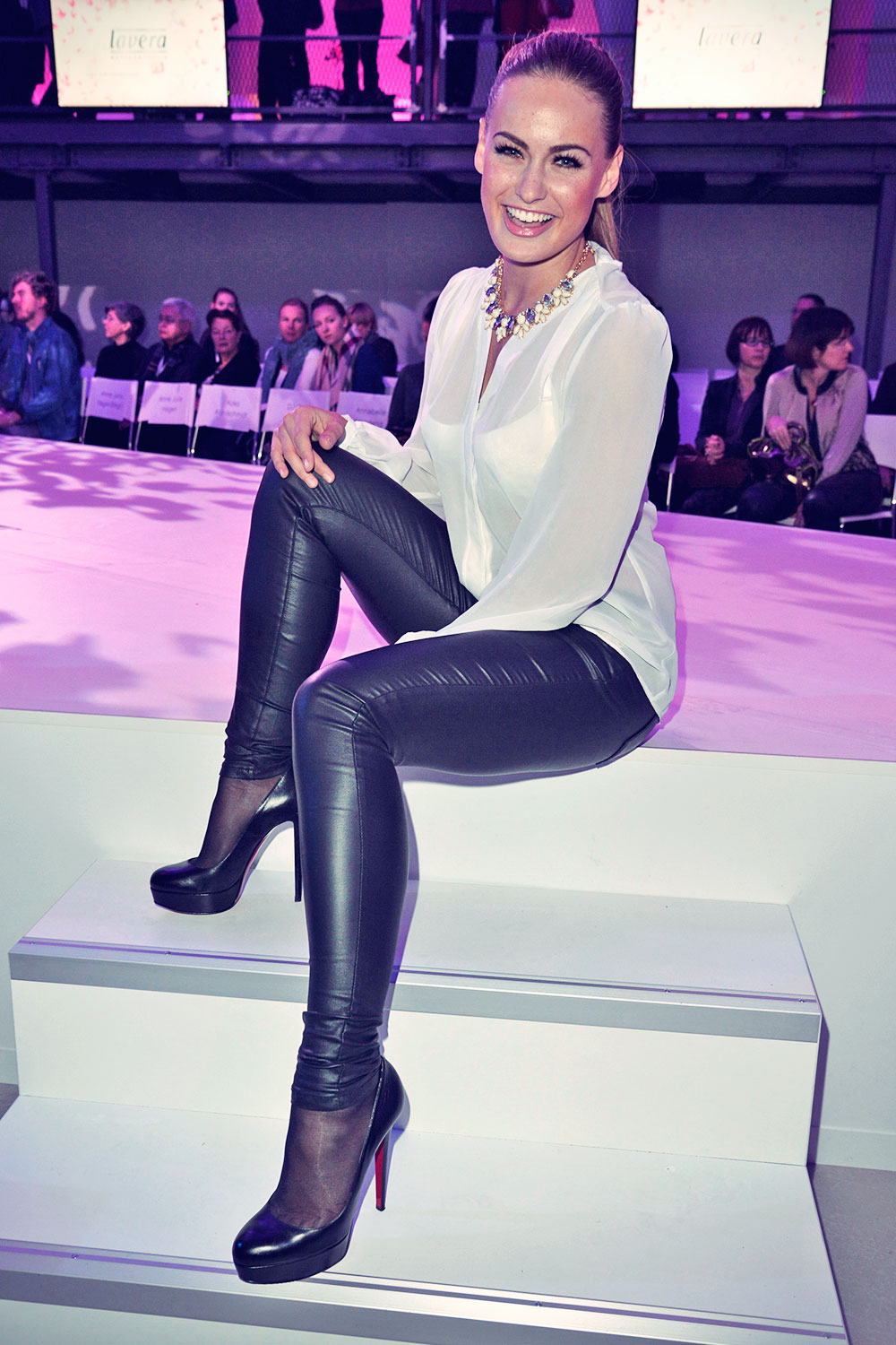 Celebs at Mercedes-Benz Fashion Week 2014 Berlin - Leather ...