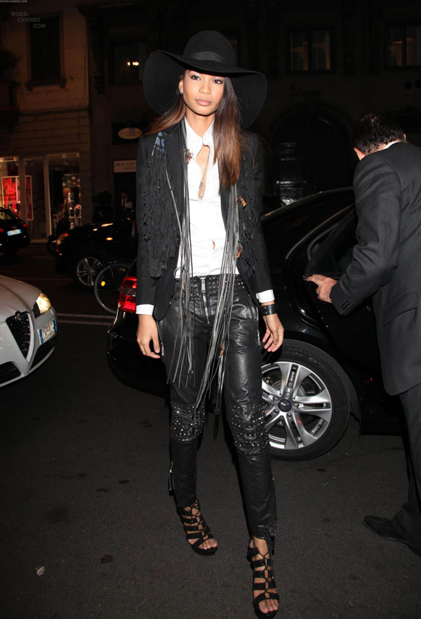Chanel Iman at the Vertu Global Launch Of The Constellation in Milan