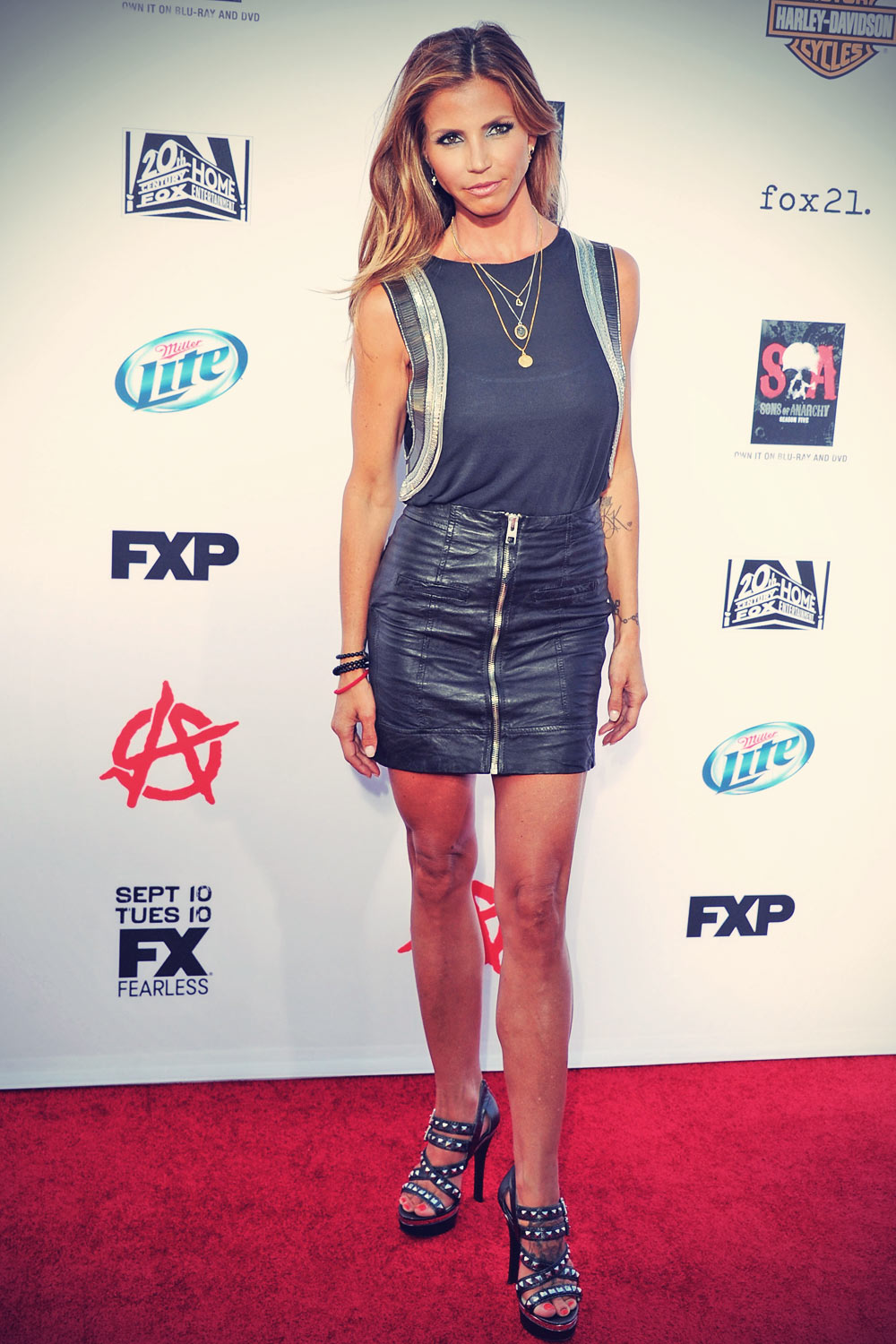 Charisma Carpenter attends Sons Of Anarchy Season 6 Premiere