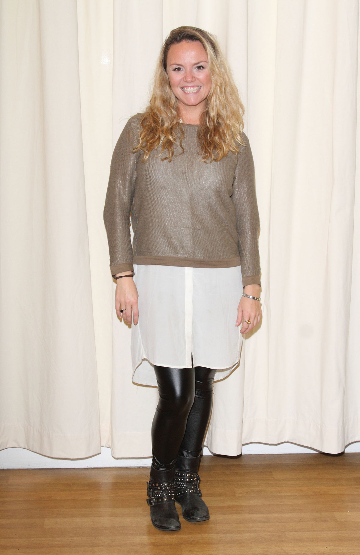 Charlie Brooks Attends Beautiful Thing Photocall Leather