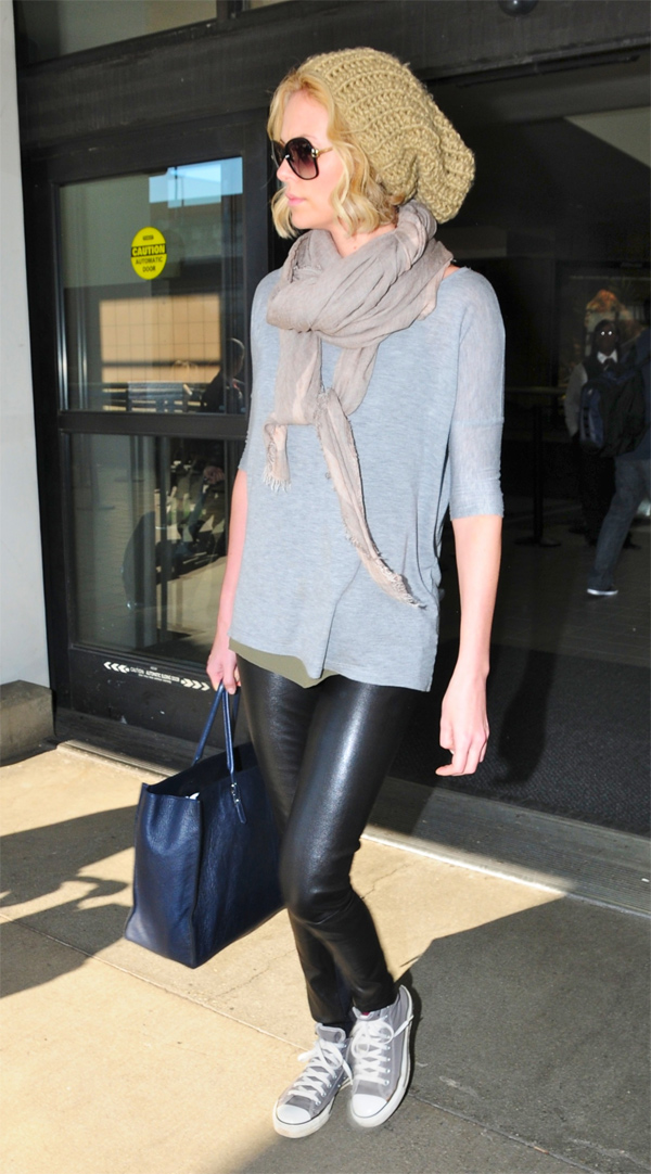 Charlize Theron arrives at LAX Airport in LA