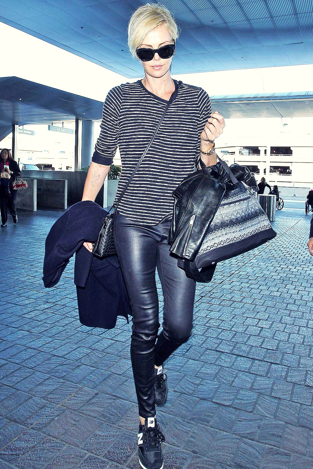 Charlize Theron arrives at LAX Airport