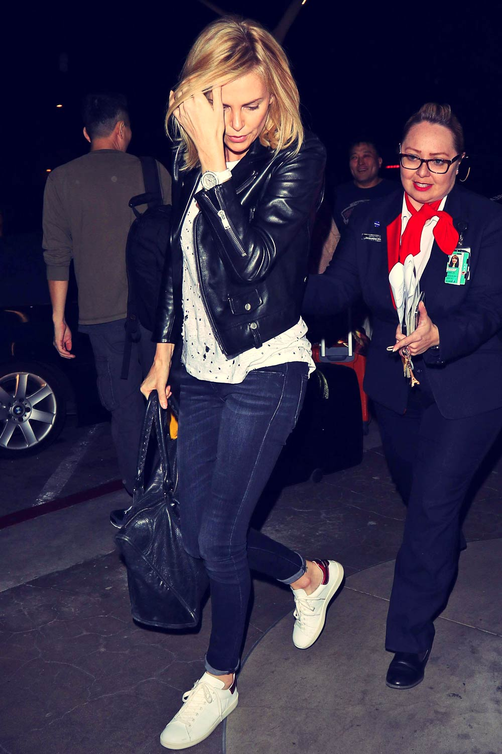 Charlize Theron catches flight out of LAX Airport