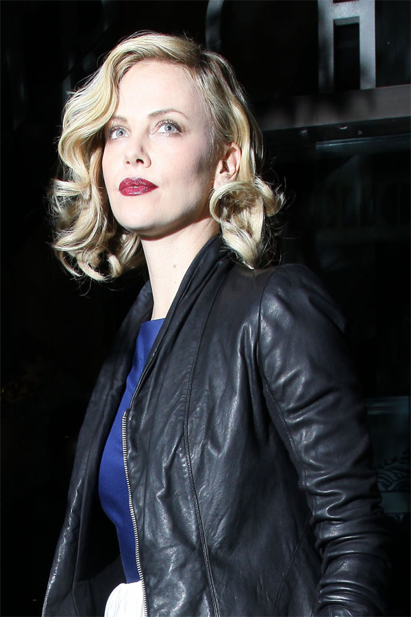 Charlize Theron leaving Mr Chow in Beverly Hills
