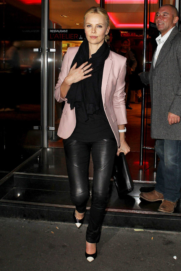 Charlize Theron dinner at L'atelier