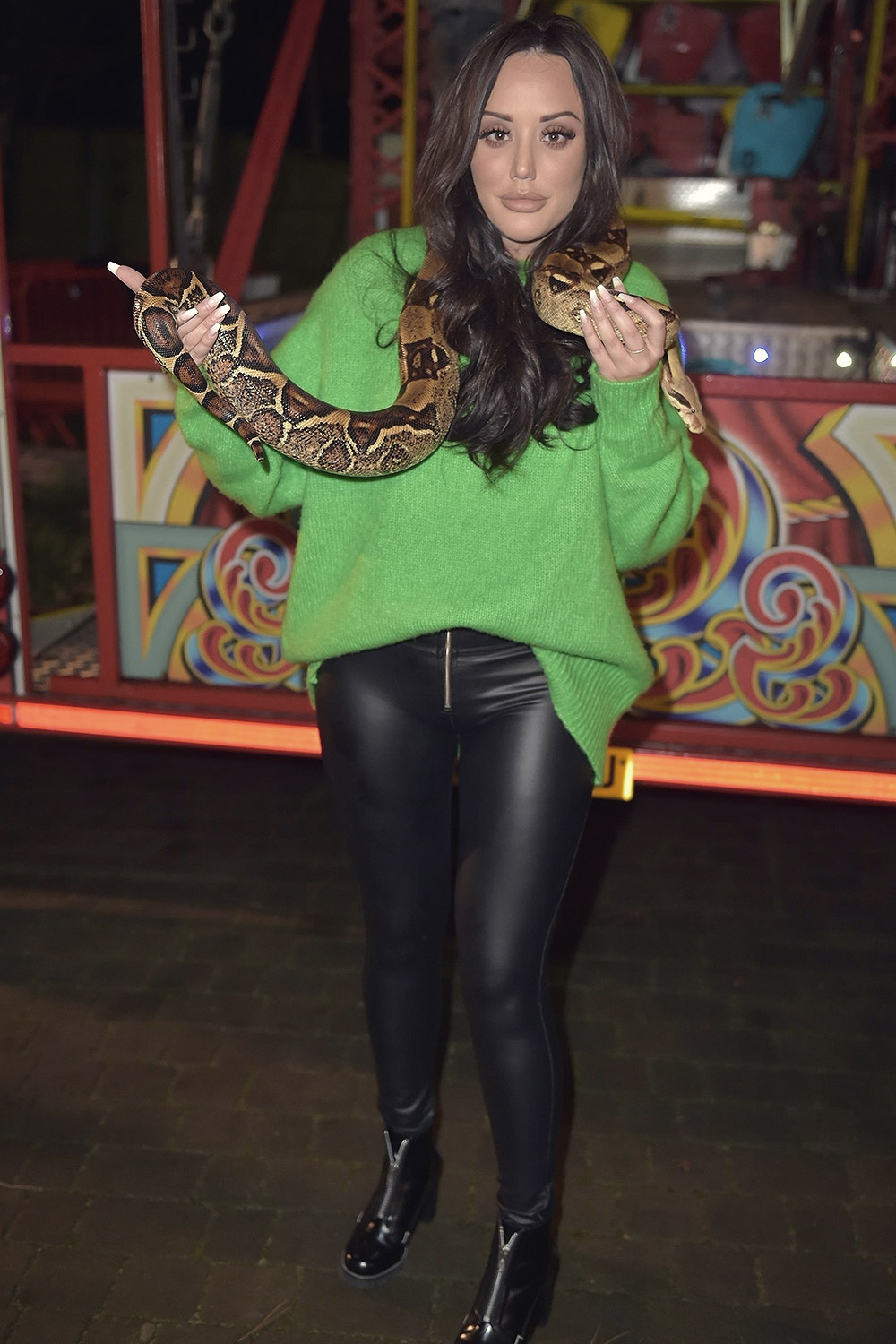 Charlotte Crosby at Birthday party at her mansion