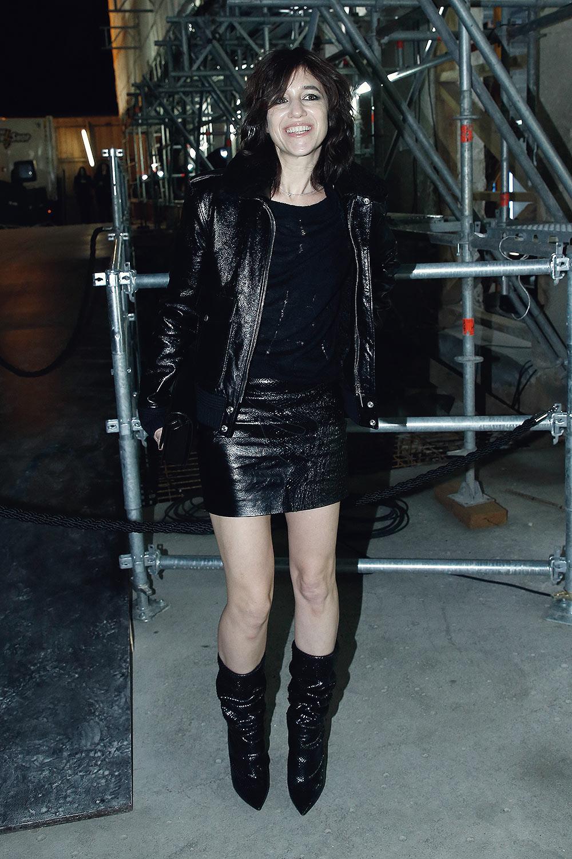 Charlotte Gainsbourg attends the Saint Laurent show