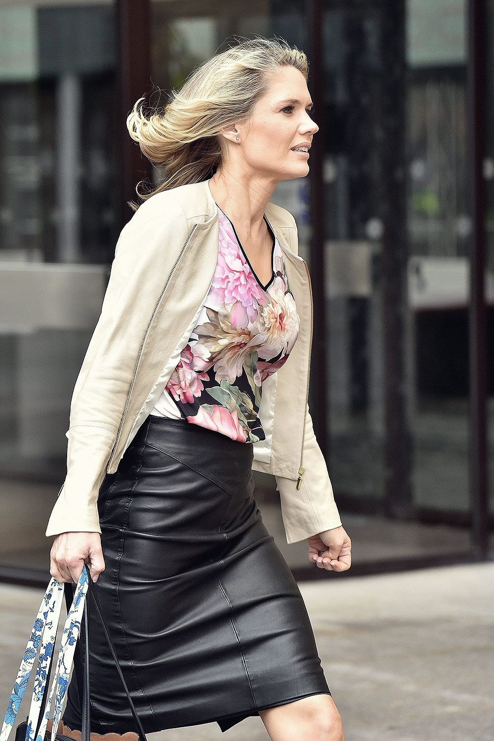 Charlotte Hawkins out & about in London