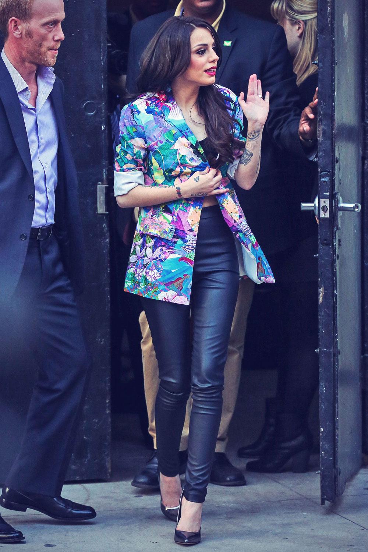 Cher Lloyd leaving a recording studio