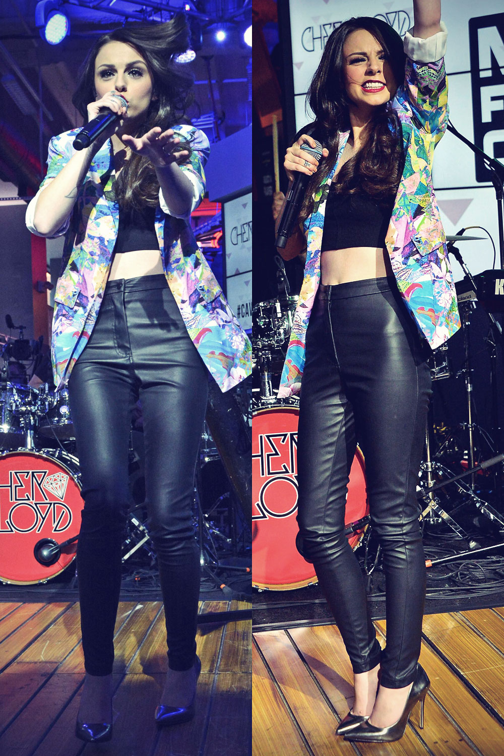 Cher Lloyd performs at MLB Fan Cave