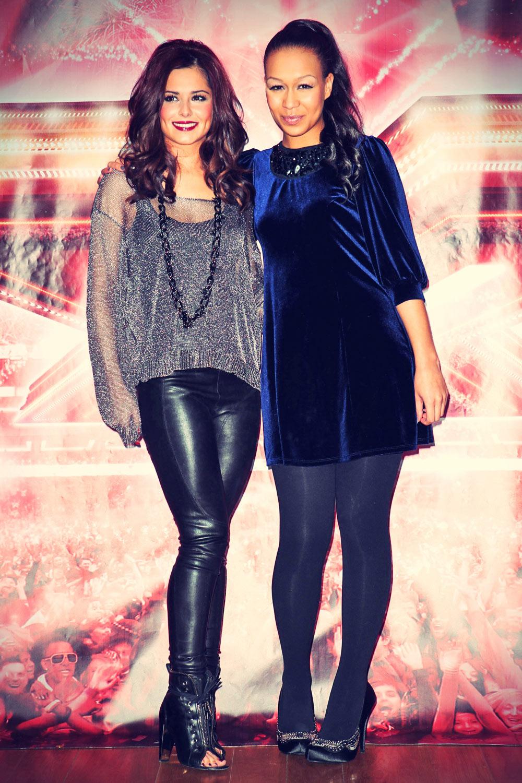 Cheryl Cole and Rebecca Ferguson pose for a photocall