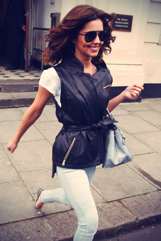 Cheryl Cole arrives at BBC Radio 1 Live Lounge