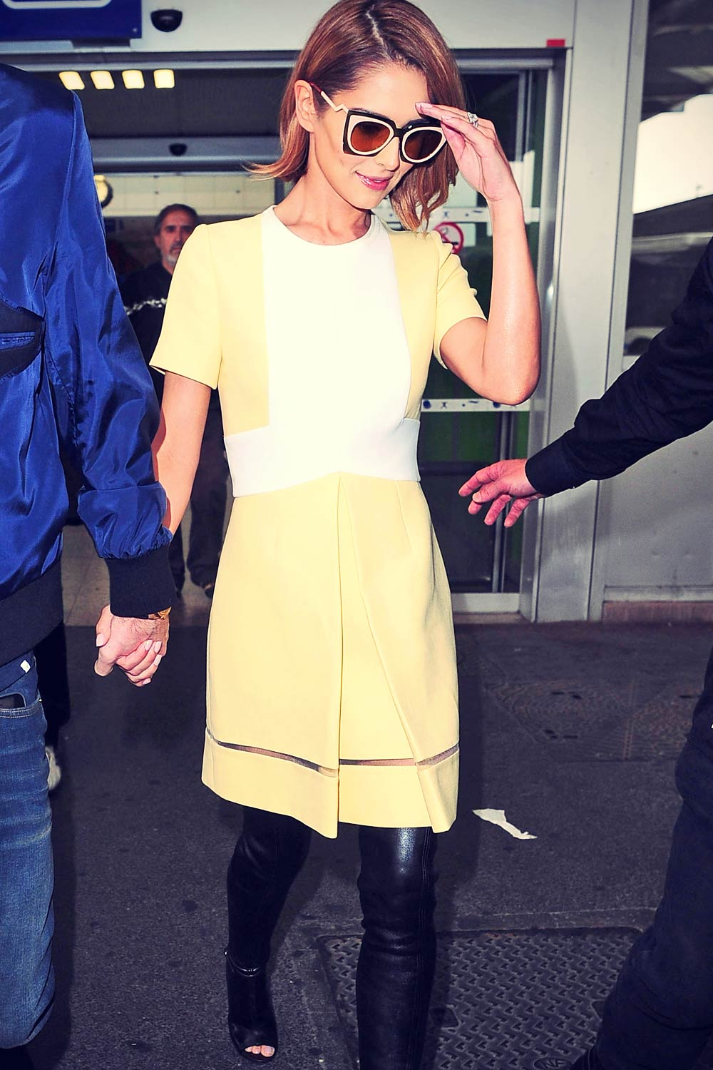 Cheryl Cole at Nice Cote d'Azur Airport in France