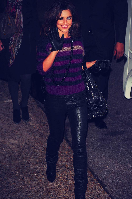 Cheryl Cole leaving Fountain Studios