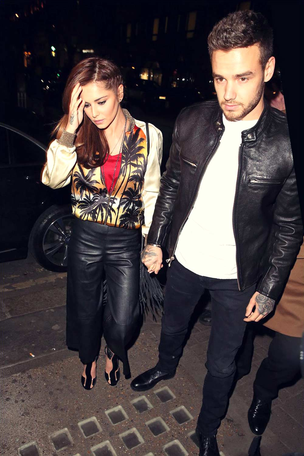 Cheryl Fernandez-Versini heads into Sexy Fish restaurant for dinner
